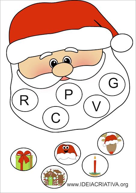 Atividade Papai Noel Letra Inicial