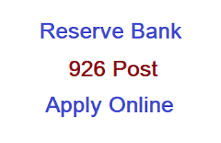 RBI 926 Assistant Post Recruitment #Apply Online, Notification Released