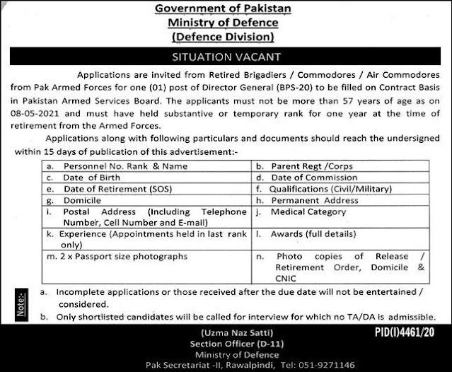 Ministry of Defence MOD Jobs- Apply Now Online jobspk14.com