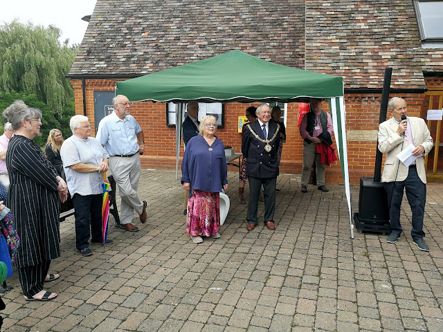 David Stokes, Chairman of the Godmanchester Museum, opening proceedings