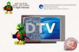 Ilustrasi TV Digital dalam kampanye Kominfo. (ANTARANEWS/Ardika)