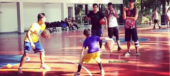 Marc Pingris' Son Shows Off His Basketball Skills (VIDEO)