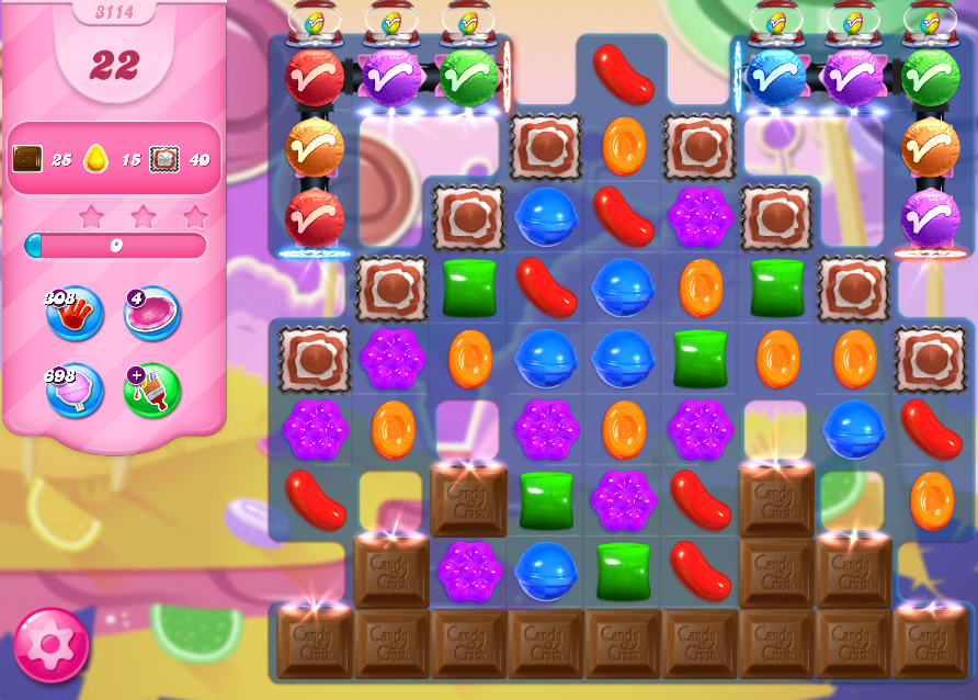 Candy Crush Saga level 3114