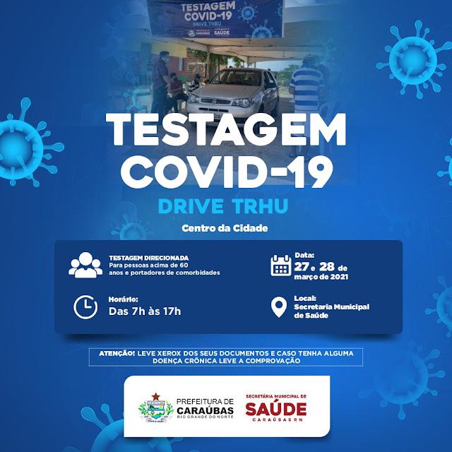 Quarta etapa do Drive-Thru Direcionado acontece neste próximo final de semana em Caraúbas, RN