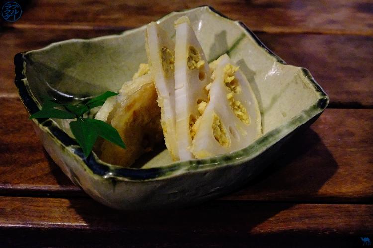 RenKon à la moutarde - Ukyo  Isakaya a Roppongi Tokyo- Le Chameau Bleu voyage au Japon