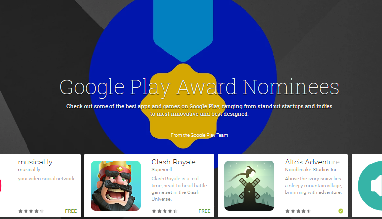 Google Play Awards-2017