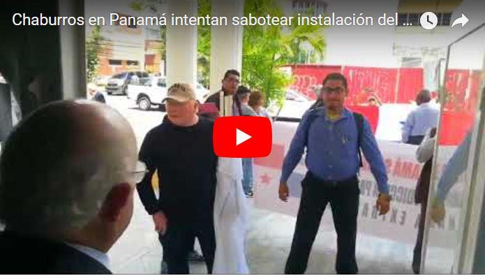 Chaburros en Panamá intentan sabotear instalación del TSJ en el Exilio