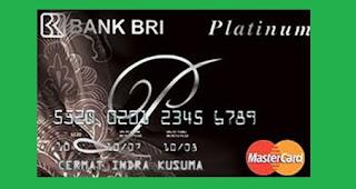 Gambar Kartu Kredit BRI MasterCard Platinum