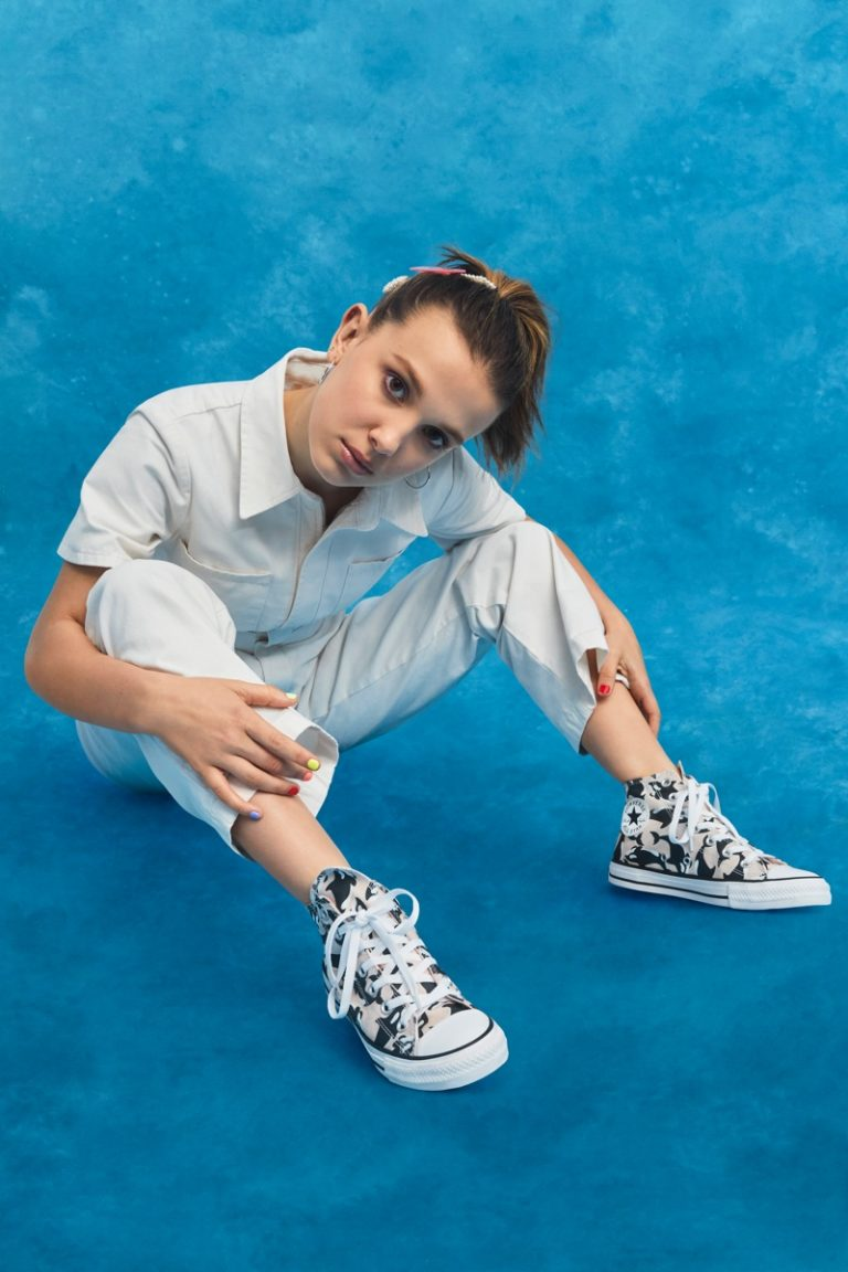 Millie Bobby Brown designs Millie By You sneakers for Converse
