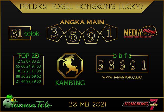 Prediksi Togel HONGKONG LUCKY 7 TAMAN TOTO 20 MEI 2021