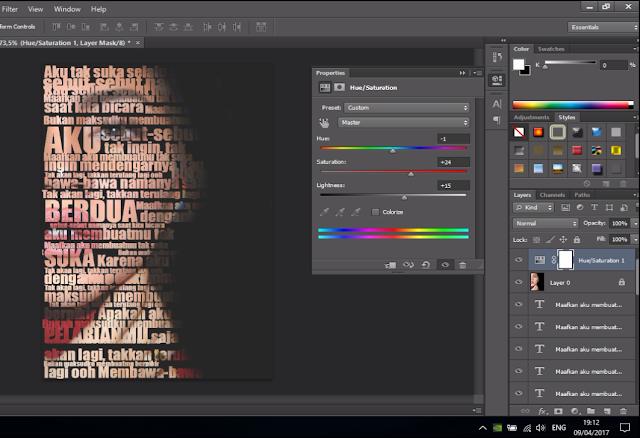 Cara Membuat Text Portrait Pada Wajah (Typography) 18