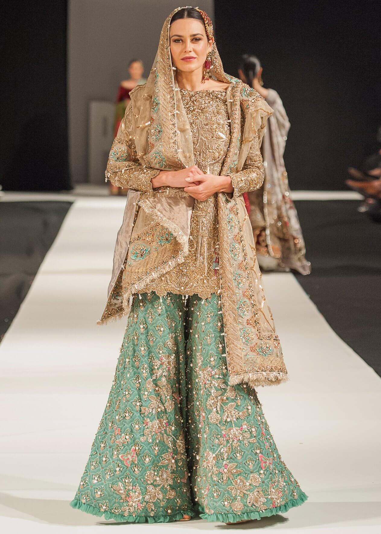 Virbant Color Combination Bridal Dress by Mohsin Ranjha for Pakistani Bride