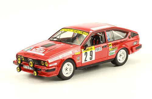 collezione rally monte carlo Alfa Romeo GTV6 1983 Y. Loubet - R. Alemany