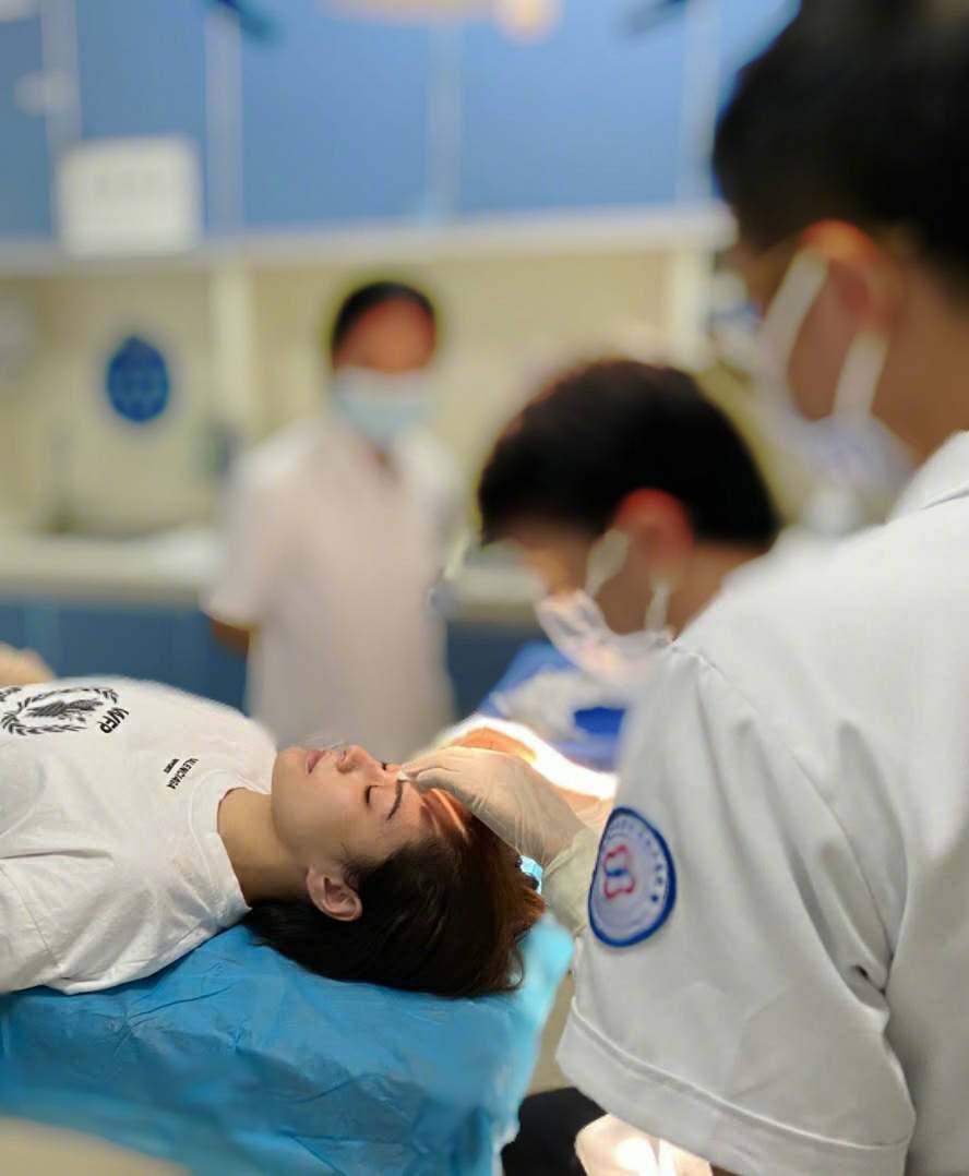 Gillian Chung was hospitalized
