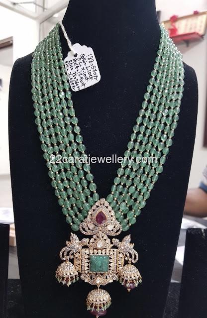 Classy Diamond Pendant with Beads Chain