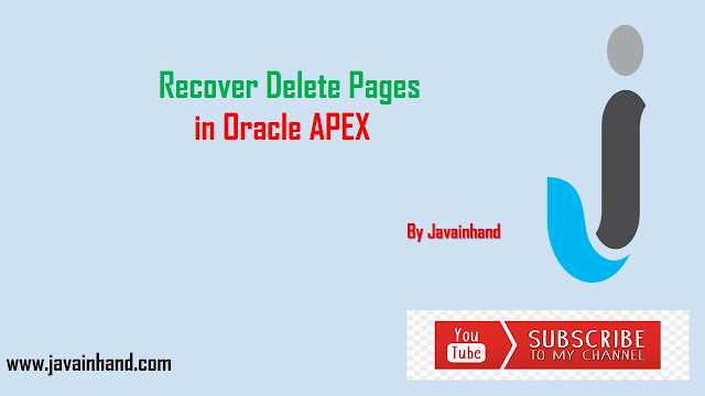 Oracle APEX Tutorial-Recover Delete Page in Oracle Apex