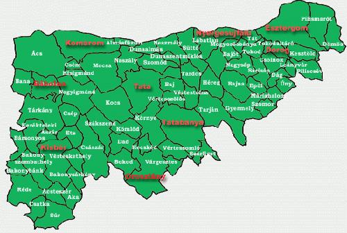 komárom térkép Gesztes.hu: Komárom Esztergom megye települései   térkép komárom térkép