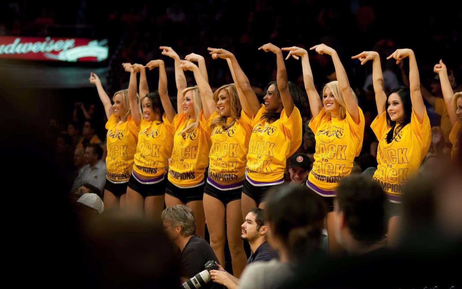 Rewallpaper Los Angeles Lakers 2014 Cute Cheerleaders Nba Usa Hd Desktop Wallpaper