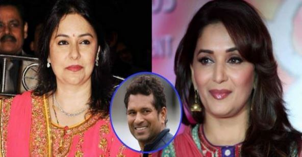 madhuri dixit and Anjali Tendulkar