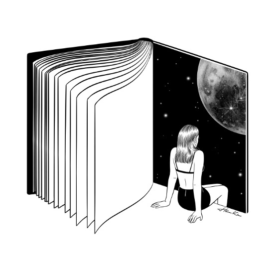 """Reading is dreaming with your eyes open"" by Henn Kim 