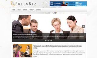 PressBiz Blogger Template