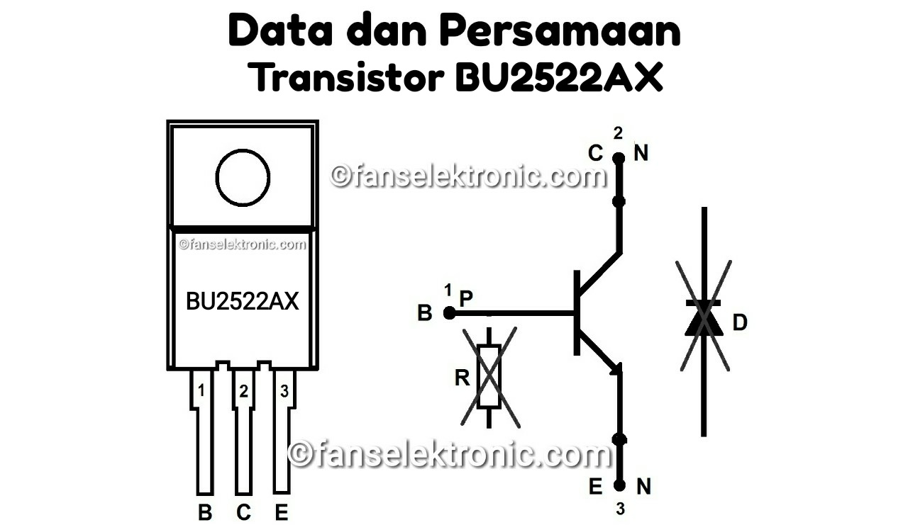 Persamaan Transistor BU2522AX