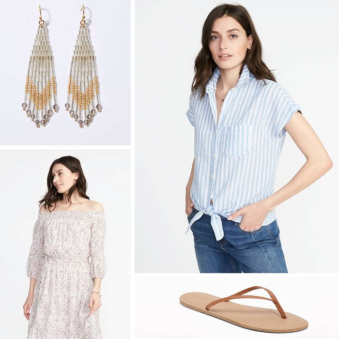 capri sandals striped shirt old navy