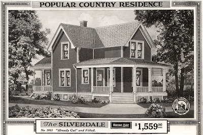 black and white catalog image, Sears Silverdale in 1918 Sears Modern Homes catalog