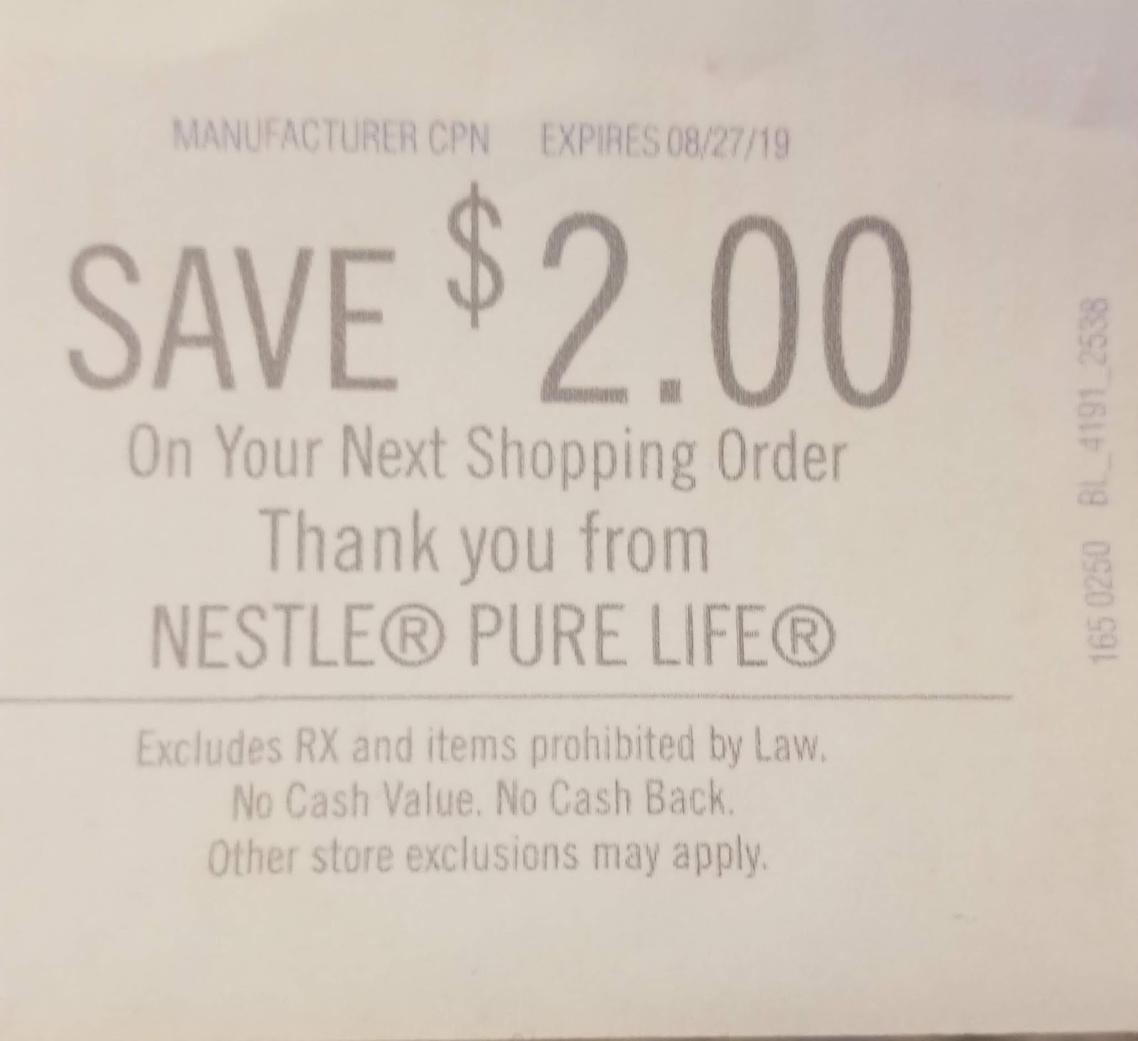 UPDATE FREE Nestle Pure Life Water At Harris Teeter Super
