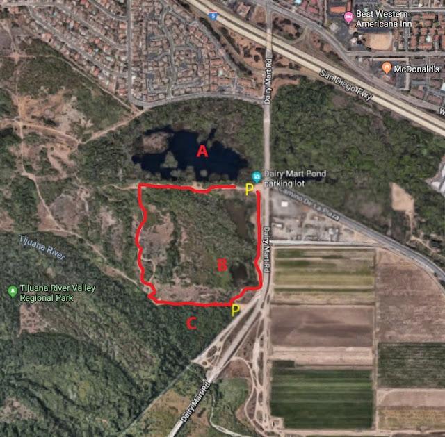 Dairy Mart Pond trail map