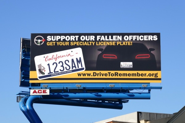 fallen officers Drive to Remember license plate billboard