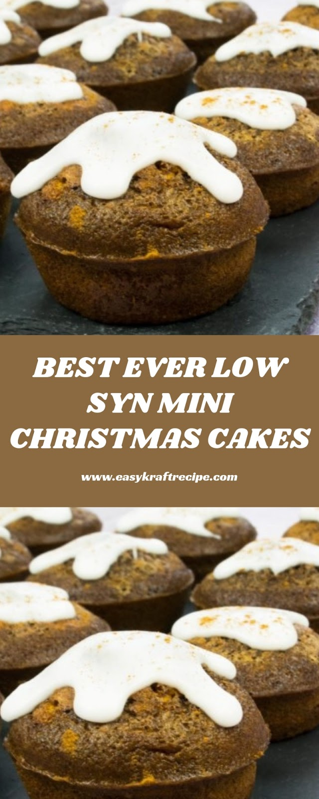 BEST EVER LOW SYN MINI CHRISTMAS CAKES