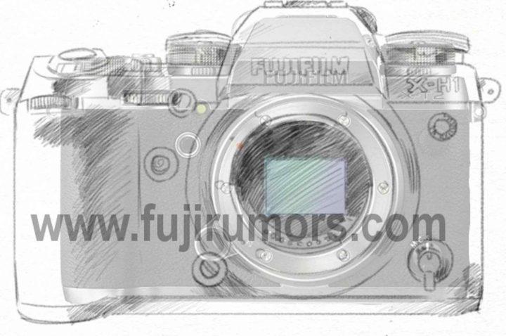 Сравнение размеров Fujifilm X-H1 и X-T2