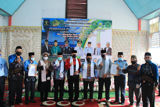 Bupati HSU H Abdul Wahid HK Bertemu dengan Pimpinan Majelis/Ta'lim Lapas/Rutan se Kalsel