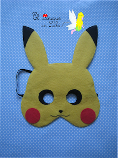 máscara-fieltro-Pikachu-Pokemon-disfraz-hechaamano-casero-elbosquedelulu-careta-felt-feltro