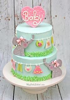 Außergewöhnliche Babyparty-Kuchen