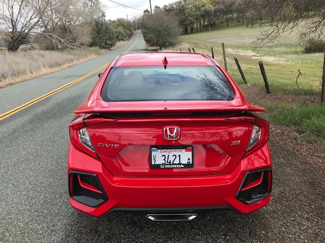 Rear view of 2020 Honda Civic