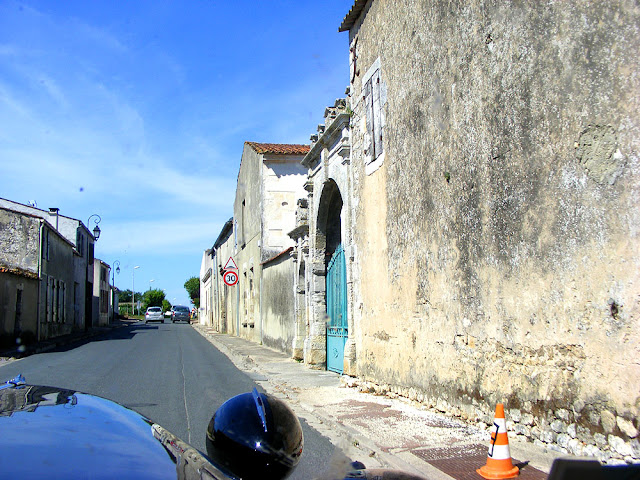 Driving through a village in Charente-Maritime, France. Photo by Loire Valley Time Travel.