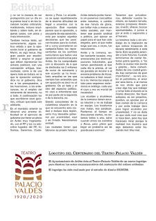 imagen de la maquetación del editorial de Julio Carretero, segunda página