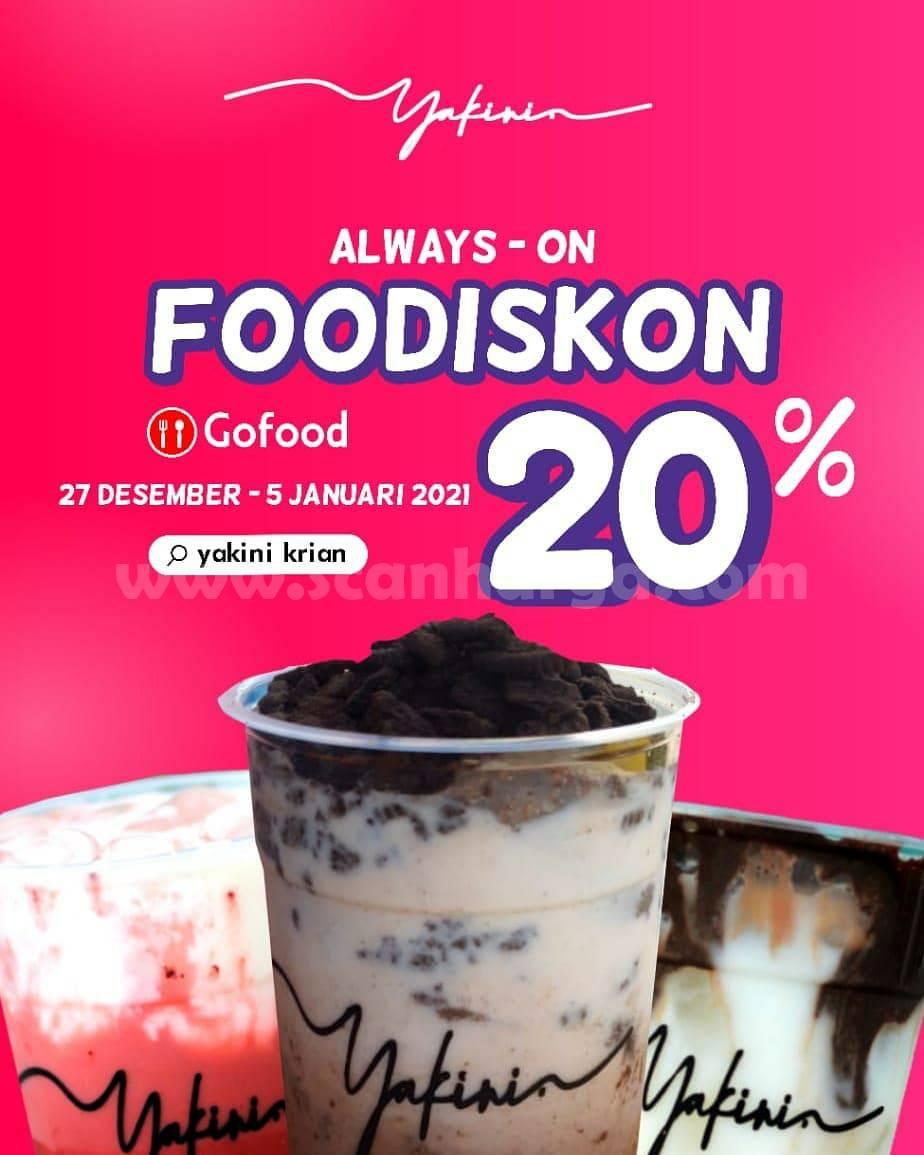 Promo YAKINI Terbaru - FooDiskon 20% khusus pemesanan via Gofood
