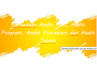 Perbedaan Audit Plan, Audit Program, Audit Procedure dan Audit Tehnik