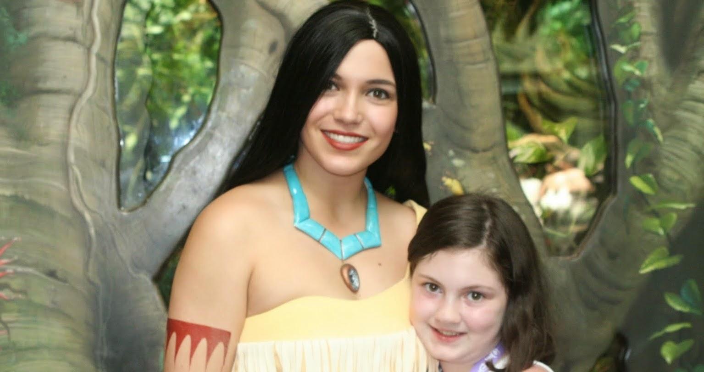 Onde encontrar a princesa Pocahontas Orlando