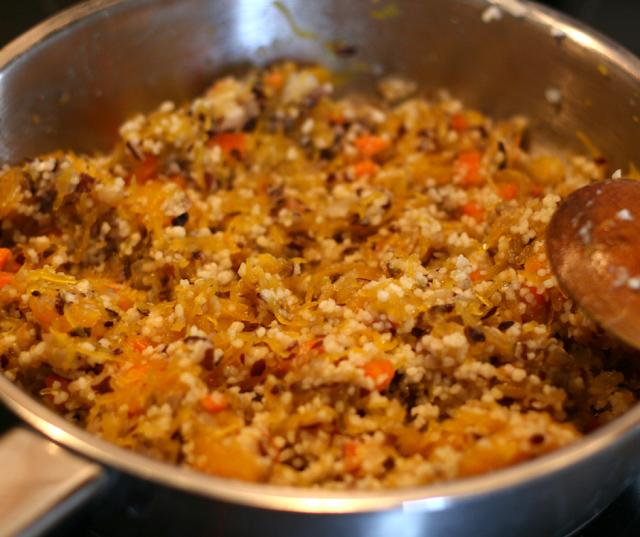 recette végétale vegan courge farcie en gratin automne préparation couscous
