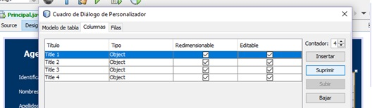 Eliminar columnas de modelo Jtable Java