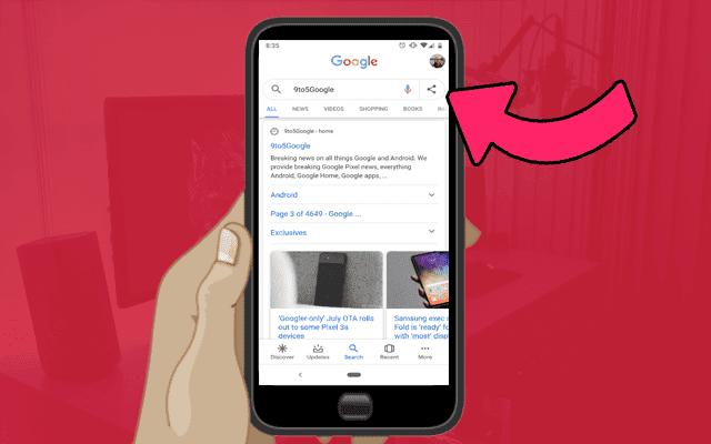 غوغل الآن تسمح لك بمشاركة عمليات البحث مع أصدقاءك