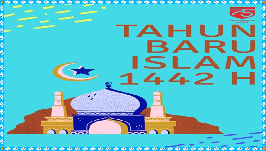Twibbon Ucapan Tahun Baru Islam 1442 H Terbaru