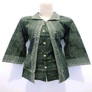 model baju batik untuk orang gemuk berhijab
