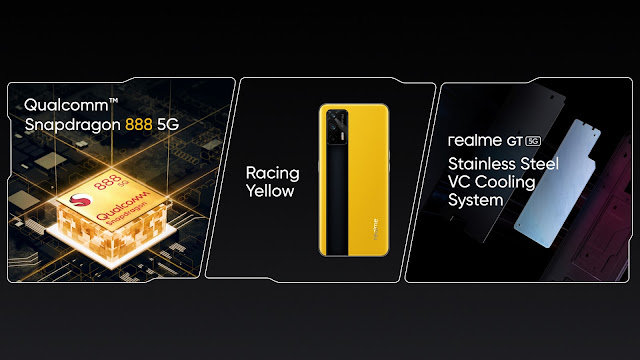 Design and Specifications of Realme GT confirmed officially - Comes with Stainless Steel VC Cooling System | TechNeg