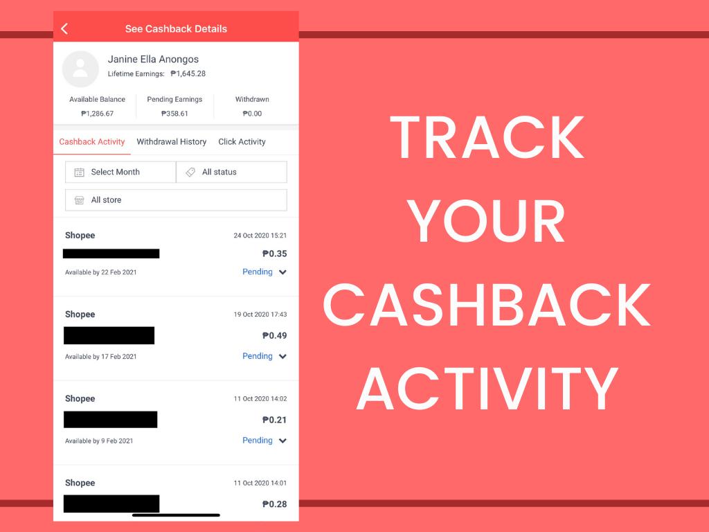 Track Your Shopback Activity - Off-Duty Mama