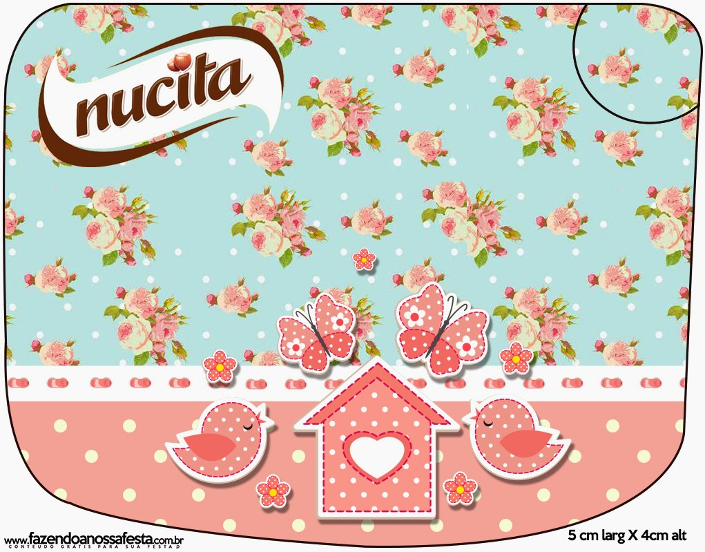 Birds and Butterflies Free Printable Nucita Labels.